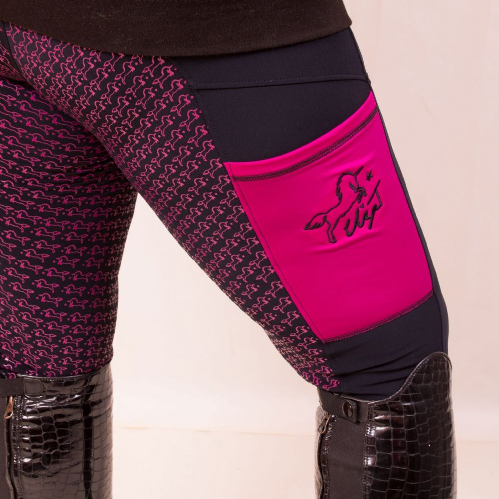 AW19 Eliza T Hot Berry Pink Riding Jeggings